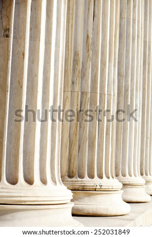 Greek columns, vertical image
