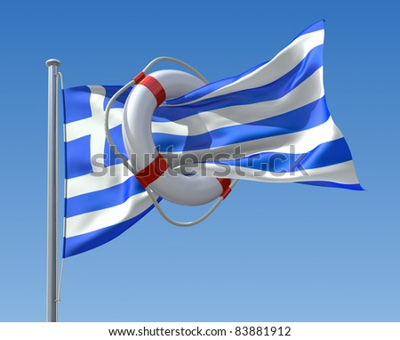 Greek crisis concept - stock photo
