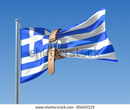 Greek crisis (3D concept) - stock photo