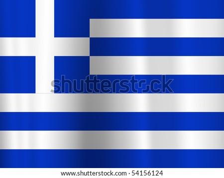 greek flag - stock photo