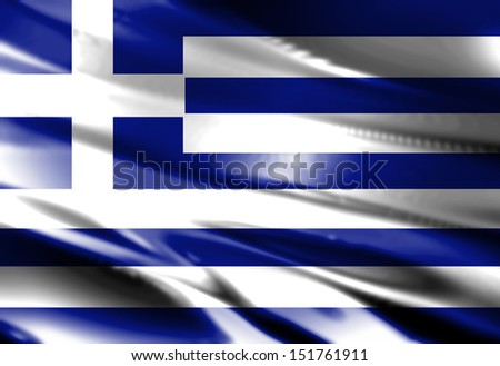Greek flag waving in the wind with some folds