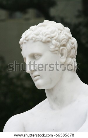 greek god sculpture - stock photo