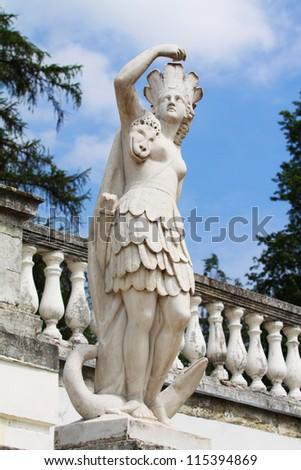 Greek goddess sculpture  in the estate Arkhangelsk - stock photo