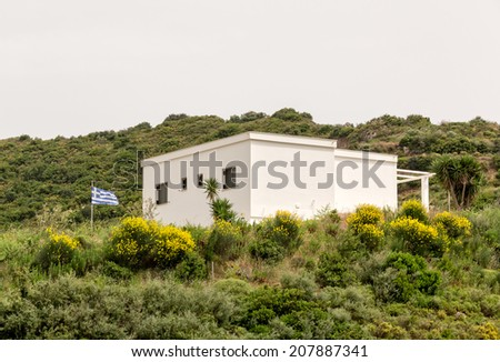 Greek house on a hill