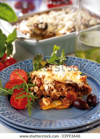 Greek moussaka - stock photo