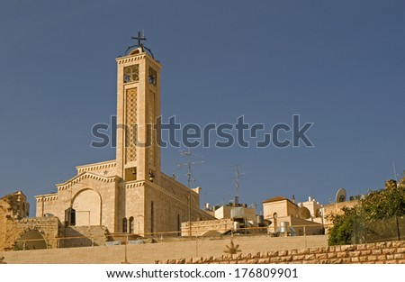 Greek orthodox cathedral, Betlehem, Palestine - stock photo