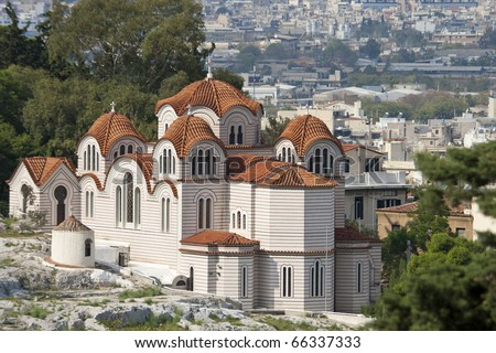 greek orthodox church, Greece, Athens, Europe - stock photo