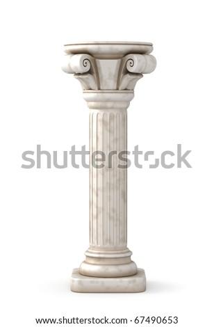 Greek Pillar - stock photo