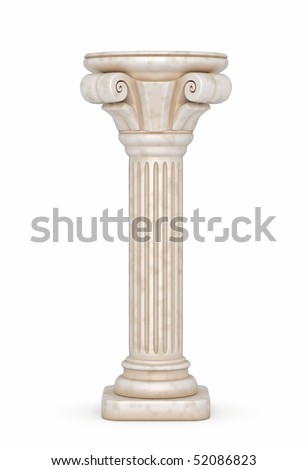 Greek Pillar Illustration