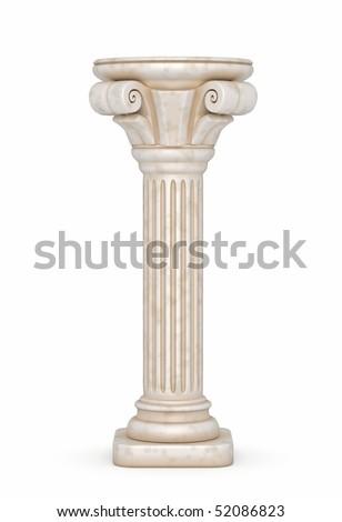 Greek Pillar Illustration - stock photo