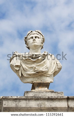 Greek sculpture of god in the estate Arkhangelsk - stock photo
