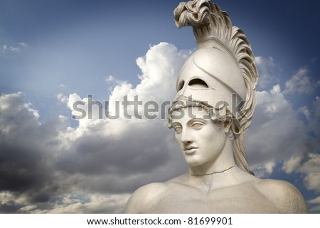 Greek sculpture of the General Pericles, Greek art - stock photo