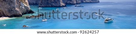 Greek sea (Levkada island,Greece) - stock photo
