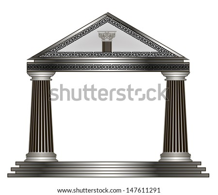 greek temple illustration