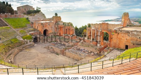 Greek Theater of Taormina, Sicily, Italy