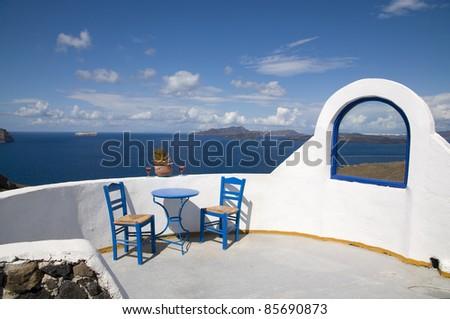 Greek vacation - stock photo