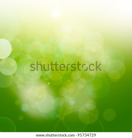 green abstract - stock photo