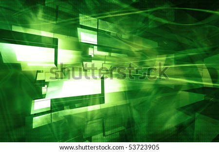 Green abstract backgraounds - stock photo