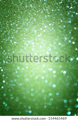 green abstract background, green bokeh abstract lights  - stock photo