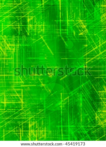 green abstract background with yellow lines