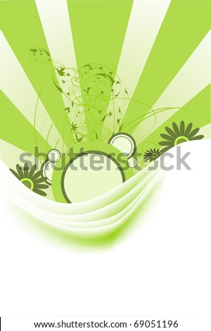 Green abstract backgrounds and grunge elements with ornament shapes. - stock photo