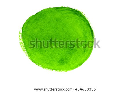 Green Abstract Circle Stroke.