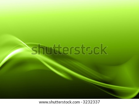 green abstract composition - stock photo