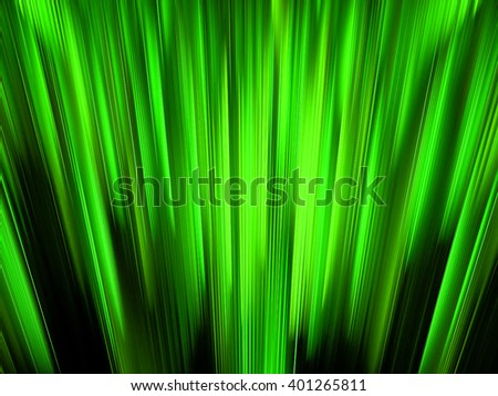green Abstract fractal with  glowing wavy lines . fantasy background - stock photo