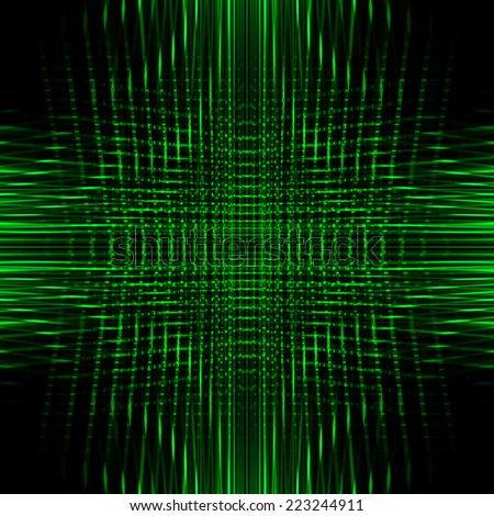 Green Abstract Futuristic Background