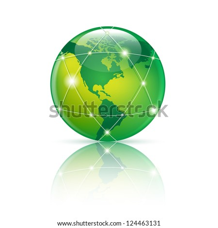 green  Abstract globe