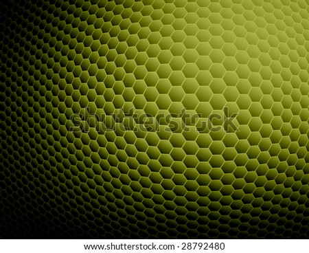 Green Abstract Honeycomb Background - stock photo