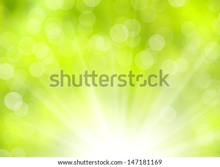 green abstract light textures background  - stock photo
