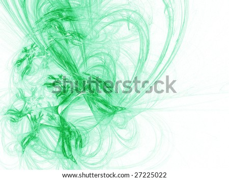 green abstract line pattern design