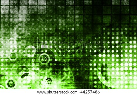 Green Abstract Modern Grunge as a Background - stock photo