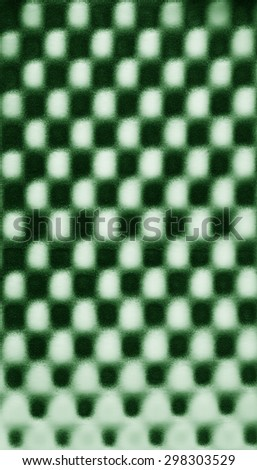 Green abstract pattern foam chess texture background pattern - stock photo