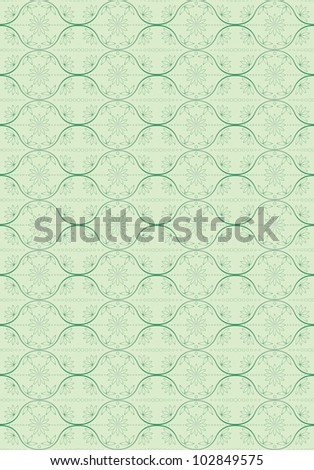 green abstract seamless floral pattern