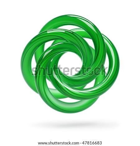 Green Abstract Shape - stock photo