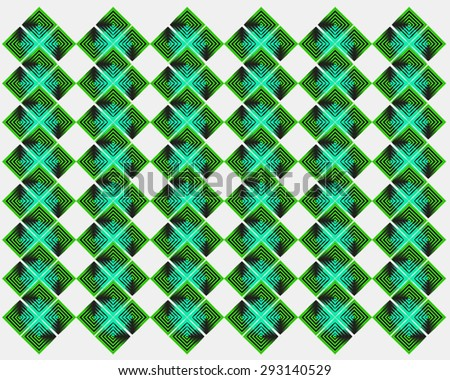 green abstract shape background