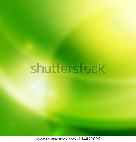 Green abstract shine background - stock photo