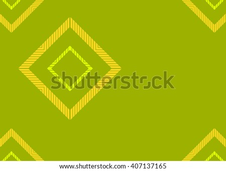 Green abstract template for card or banner. Metal Background with waves and reflections. Business background, silver, illustration. Illustration of abstract background with a metallic element - stock photo