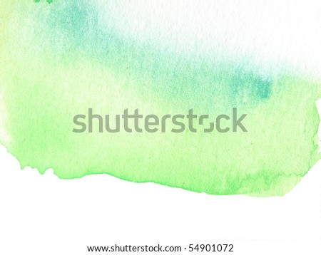 green abstract watercolor background design - stock photo