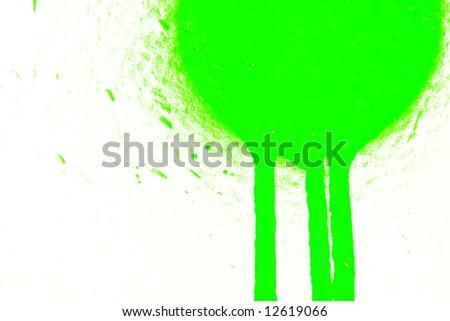 Green airbrush paint - stock photo