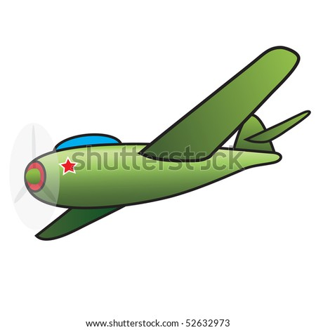 Green airplane