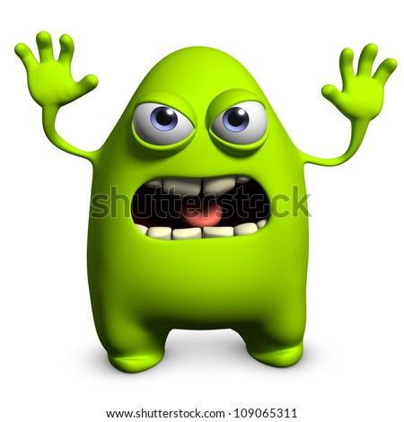 green alien - stock photo