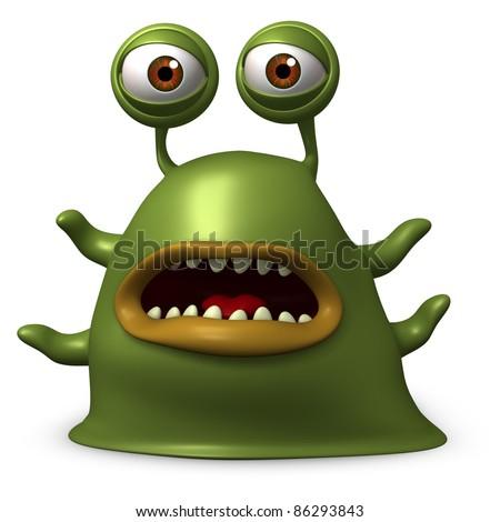 green alien - stock photo