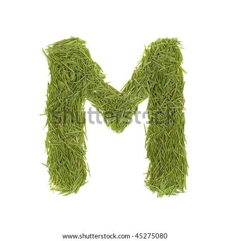 Green Letter m Logo Green Alphabet Letter m