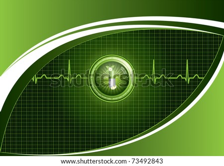 Green alternative medication concept - Medical background - stock photo
