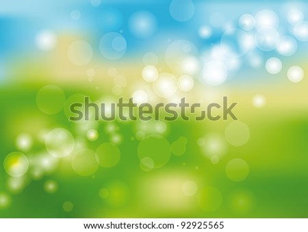 Green and blue light abstract background
