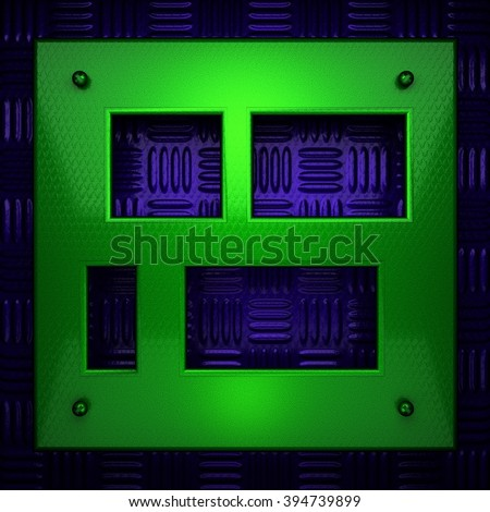 green and blue metal background