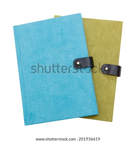 green and blue notebook - stock photo